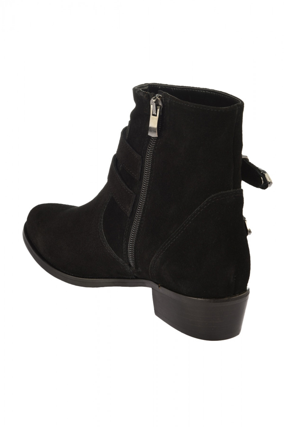 Trendyol Genuine Leather Black Suede Women's Boots & Bootie
