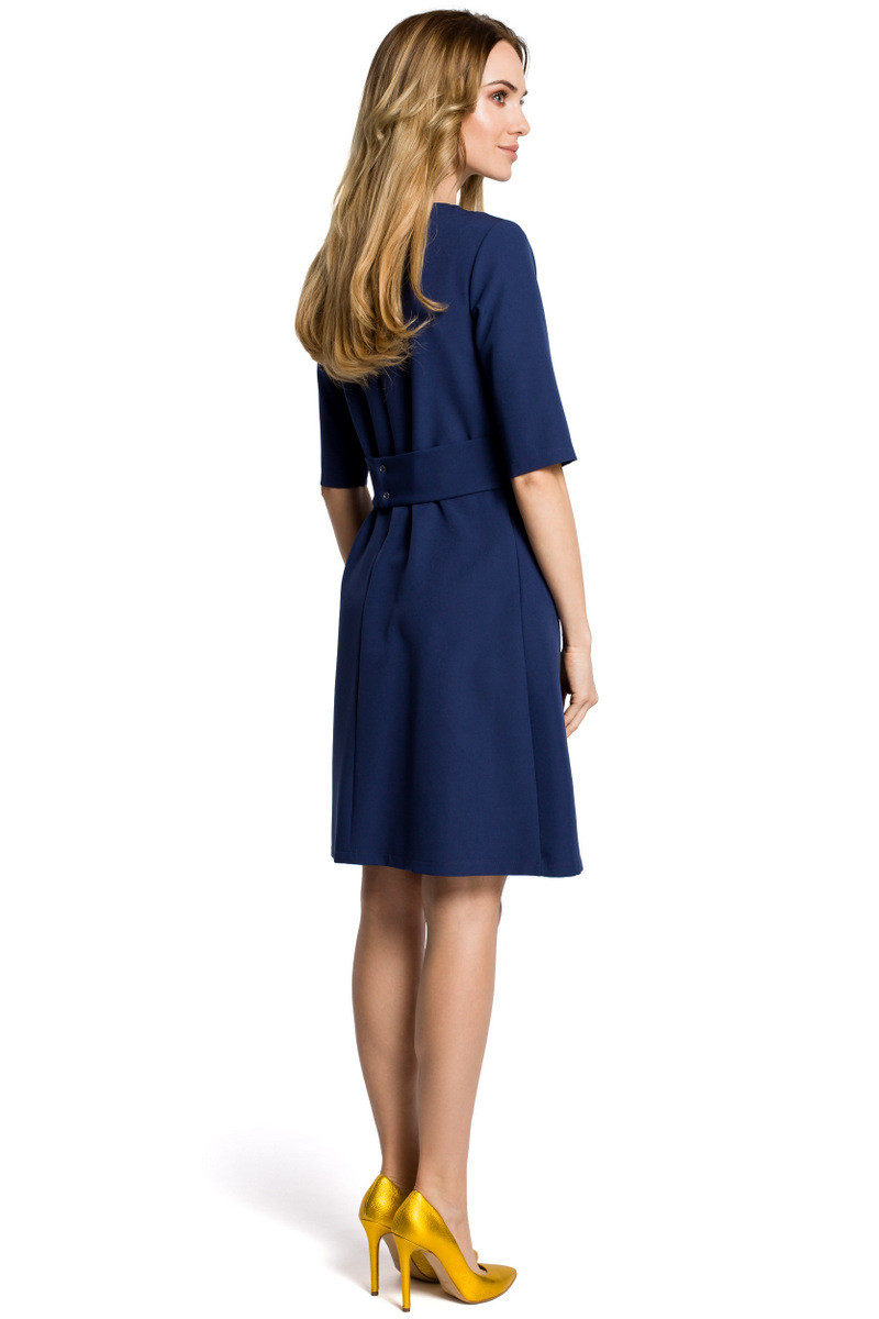 Made Of Emotion Woman's Dress M362 Navy Blue
